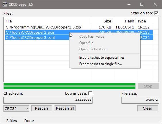 Goat 1000 - CRCDropper drag and drop CRC32 calculator